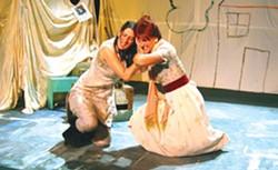 Elektra (Alina Phelan) and Clytemnestra (Christel Joy Johnson). Photo by Mark Seldis.