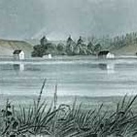 Origin Stories Engraving of Humboldt Bay by S. Eastman. From Two People, One Place.