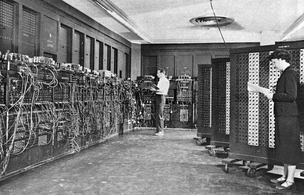 ENIAC (Electronic Numerical Integrator And Computer) in Philadelphia sometime between 1947 and 1955. - U.S. ARMY PHOTO