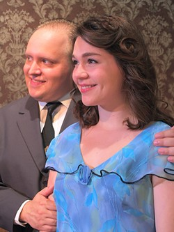PHOTO COURTESY OF NCRT - Evan Needham and Molly Harvis       are the lovers who cause farcical family conflict in You Can't Take It With You.