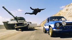 Flying in the face of physics: Fast and Furious 6.