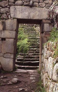 PHOTO BY BARRY EVANS - Form following function: lintel (Machu Picchu, Peru)