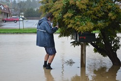 Fortuna postal carrier Brad Renner makes his rounds Saturday. - MELISSA SANDERSON