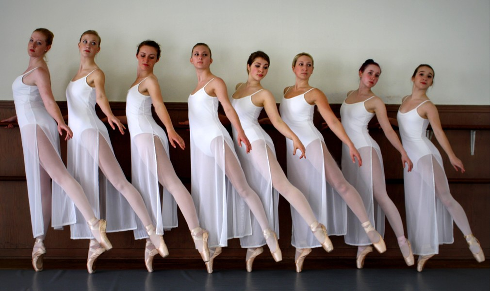 From the Dancers Studio (l-r) Erin Knight, Alia San Giovanni, Dana Fergusen, Rachael Green, Ceylon Baginski, Carrie Maschmeier, Julia Hjerpe and Jazzmin Martinez. - COURTESY OF DANCERS STUDIO