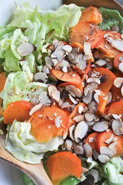 PHOTO BY SIMONA CARINI - Fuyu persimmons — eat them now.