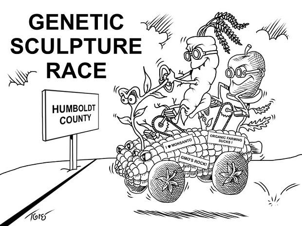 Genetic Sculpture Race