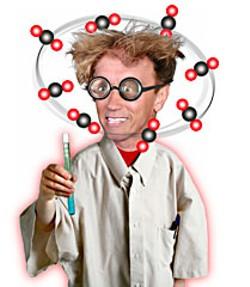 Gov. Arnold Schwarzenegger, California's mad global-warming scientist. Photo illustration by Don Button.