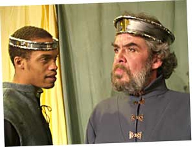 Greag Brown as Prince Hal and Lonnie S. Blankenchip as Henry IV.