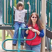 The CASA Hailey Davis and her adoptive mom, Crystal Davis.