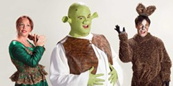 HUMBOLDT LIGHT OPERA COMPANY - Hannah Jones, Tristin Roberts and James Gadd shine in Shrek.