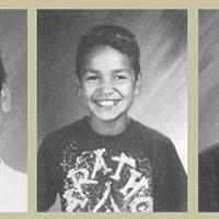 Nobody's Fault Hans Peters in Third, Fourth and Fifth grade Hoopa Valley Elementary School yearbook photos.