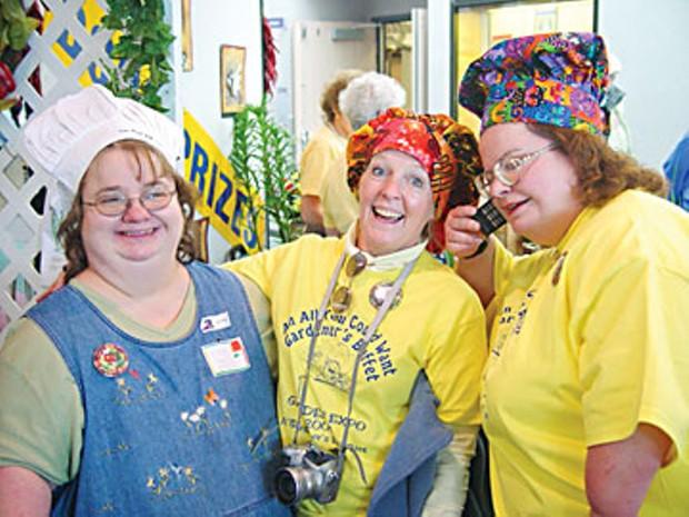 Happy, snowbound members of Spokane's Inland Empire Garden Club. Photo courtesy Inland Empire Garden Club.