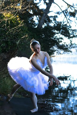 PHOTO BY HEATHER SORTER - Harmony Sorter as Odette in Bayside Ballet's production of Swan lake