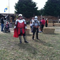 Haters gonna hate. Emerald Empire LARPers at the fair on Saturday.