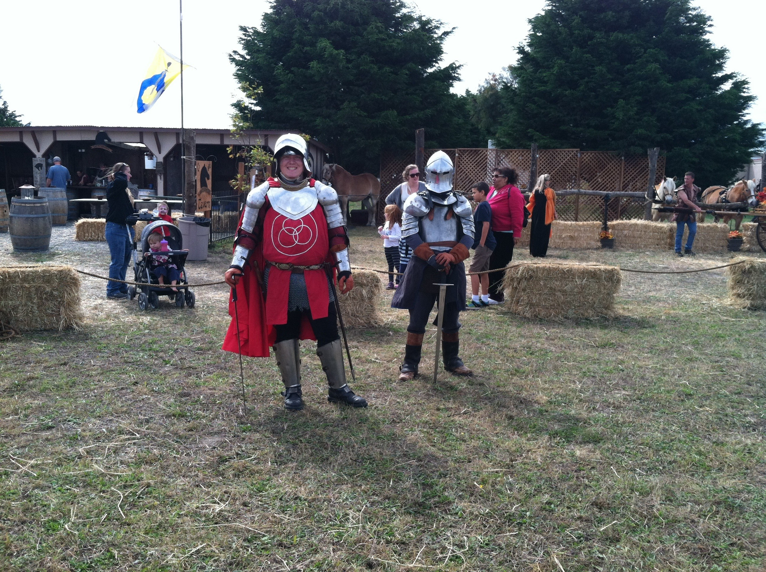 Haters gonna hate. Emerald Empire LARPers at the fair on Saturday. - TONY SMITHERS