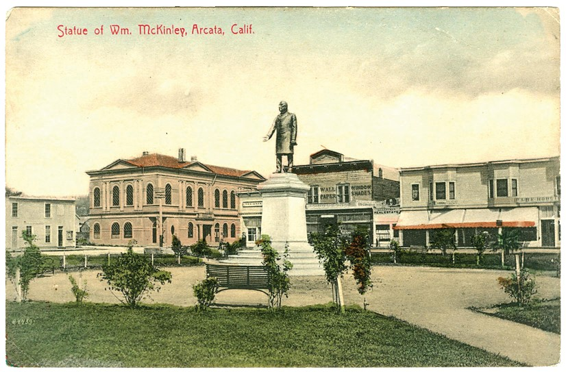 Historic Postcard of the Arcata Plaza