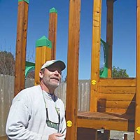 """The CASA Home builder Frank Janowski is an advocate for two CASA kids, is building CASA's new playground and is a speaker for CASA. """"It feels good to help improve kids' lives,"""" he says. Photo by Heidi Walters"""