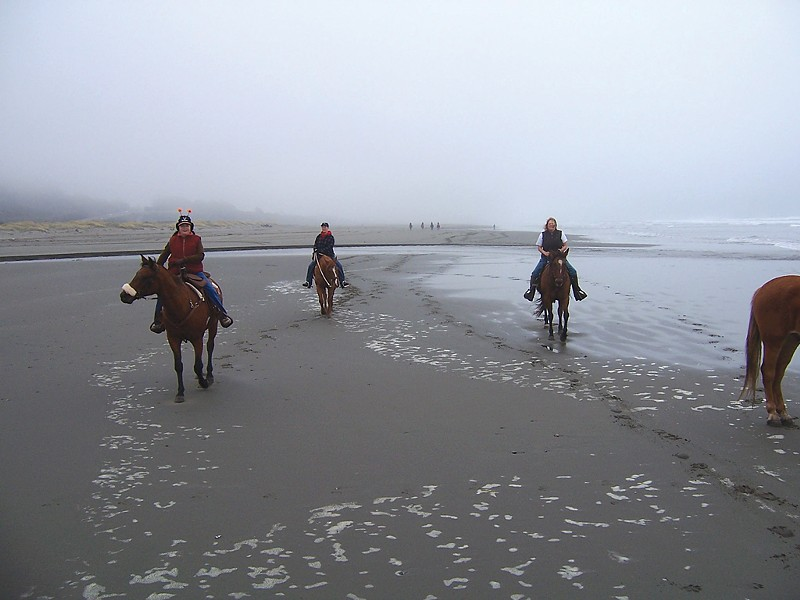 Horseback at Clam Beach - PHOTO COURTESY OF MARY BARBER
