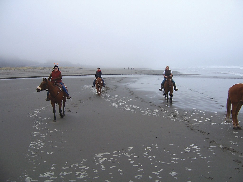 Horseback at Clam Beach - PHOTO COURTESY OF MARY BARBER