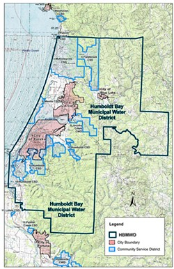 Humboldt Bay Municipal Water District map. http://www.hbmwd.com/service_area_map