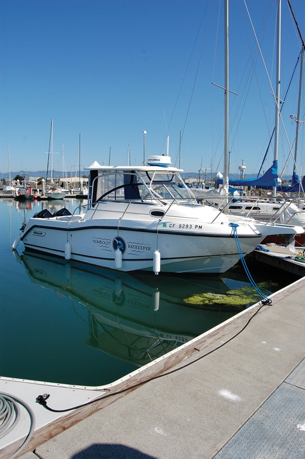 Humboldt Baykeeper's 25-foot Boston Whaler - PHOTO BY ANDREW GOFF