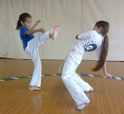 PHOTO BY BOB DORAN - Humboldt Capoeira Academy students