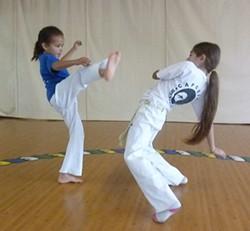 PHOTO BY BOB DORAN - Humboldt Capoeira Academy students