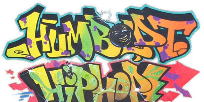 "Humboldt Hip Hop Humboldt Hip Hop graffiti art by Eureka artist/rapper Bryan ""Nac One"" Wallace."