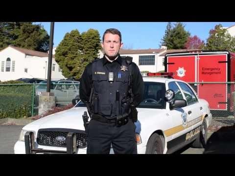 Humboldt State University Police officer Delmar Tompkins. - YOUTUBE