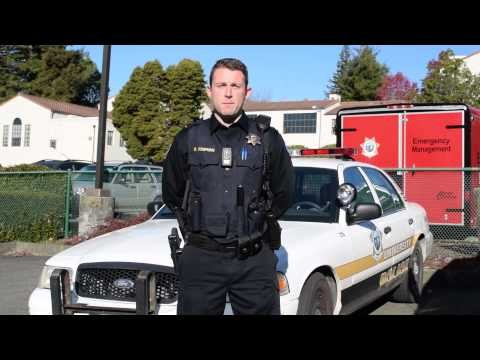 Humboldt State University Police officer Delmar Tompkins. - YOUTUBE