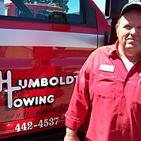 Tow Happy Humboldt Towing owner Leroy Hoffman. Photo by Heidi Walters.