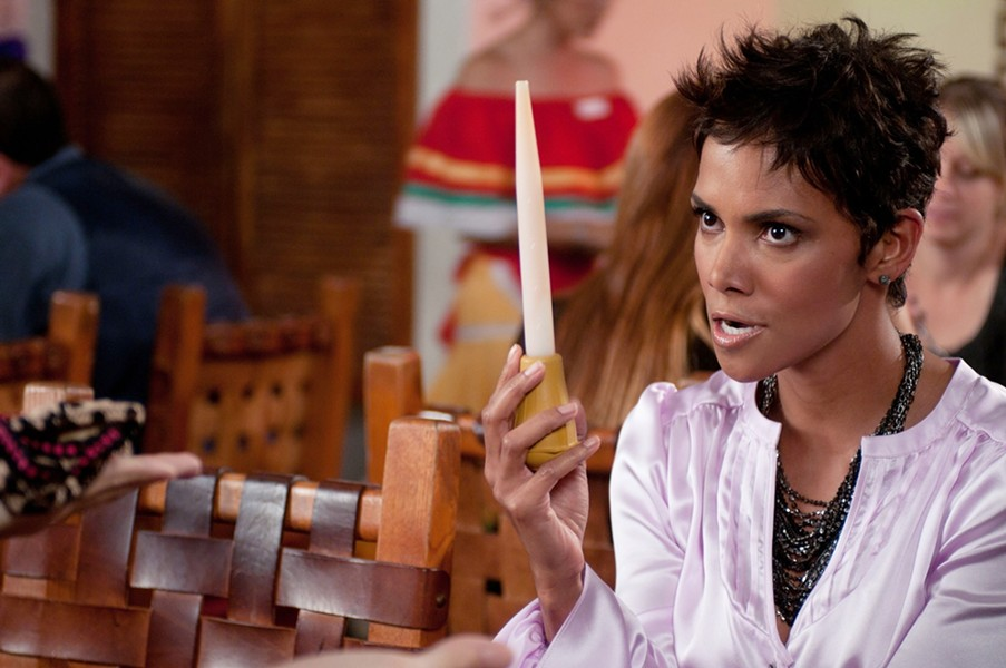 "If you're careful, you can live the rest of your life without knowing what Oscar-winner Halle Berry does with this turkey baster in ""Movie 43."""