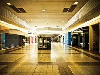 Inside the Bayshore mall.