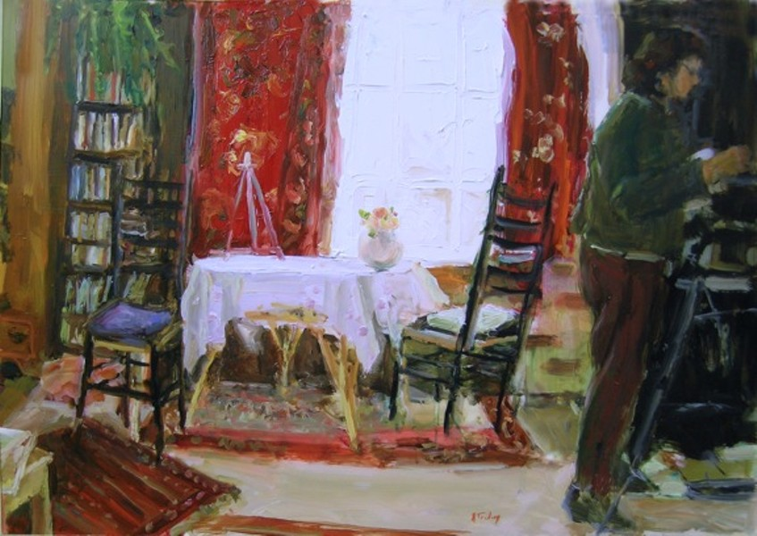 Interior with Figure - PAINTING BY ALICIA TREDWAY