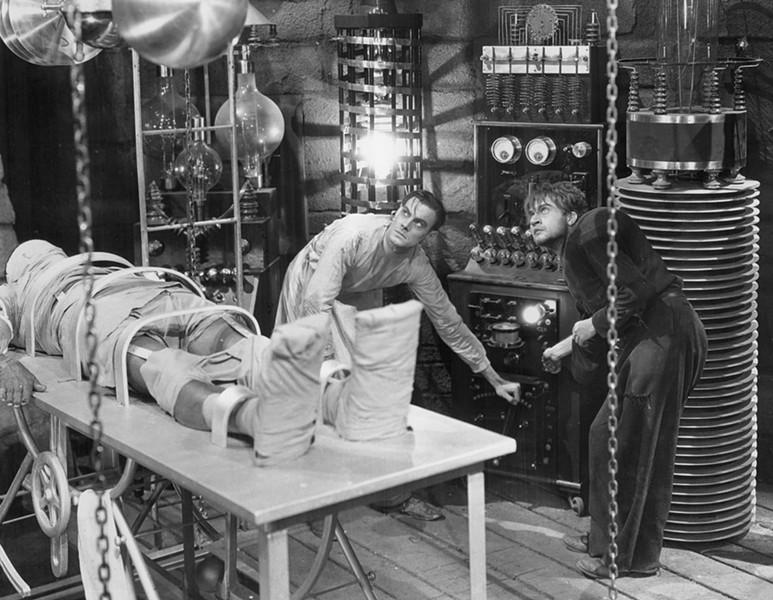 """It's Alive!"" says Dr. Frankenstein to Igor"