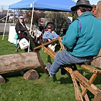 """Logger Heaven """"It's the world's first exercise bike.""""  Photo by Heidi Walters."""
