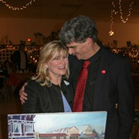 Jack Mays Photos Jack Mays and his daughter Marcia Manker at a 2005 fundraiser held in his honor. Manker is CEO of Orange Coast Memorial Medical Center in Fountain Valley, Calif., where Mays traveled frequently for chemotherapy. Manker is holding a painting of Jack Mays at work, donated to the fundraiser by former Ferndale artist Donnis Smith. Photo courtesy The Ferndale Enterprise/Caroline Titus