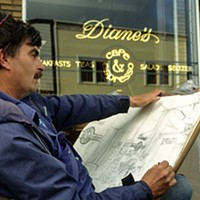 Jack Mays Photos Jack Mays drawing Diane's Café in Ferndale. Photo courtesy The Ferndale Enterprise/Caroline Titus