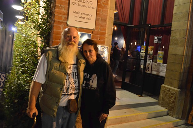James Decker and Linda Lee outside of the Siren's Song Tavern. - GRANT SCOTT-GOFORTH