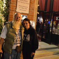 James Decker and Linda Lee outside of the Siren's Song Tavern.