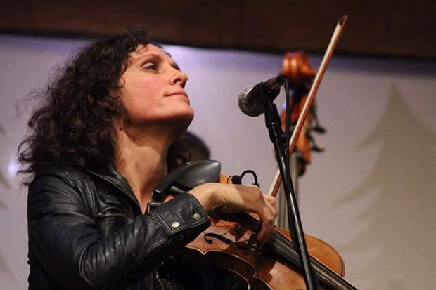 Jenny Scheinman at the Arcata Playhouse on Thursday night. - BOB DORAN