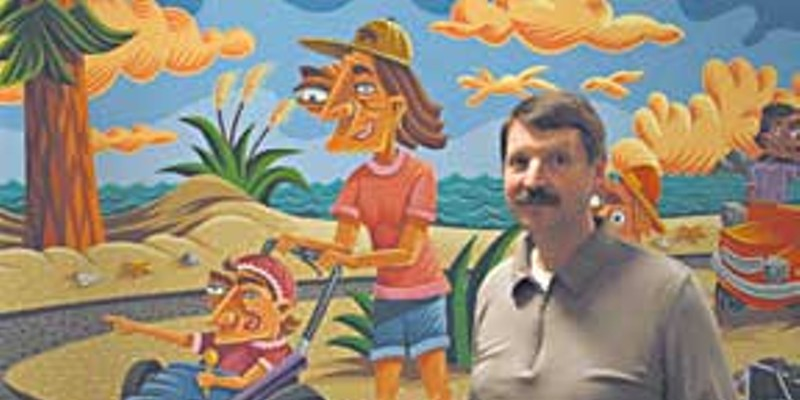 Broadband to the Backwoods Jim Carlson in the new Arcata offices of Carlson Wireless Technologies. Photo by Bob Doran.