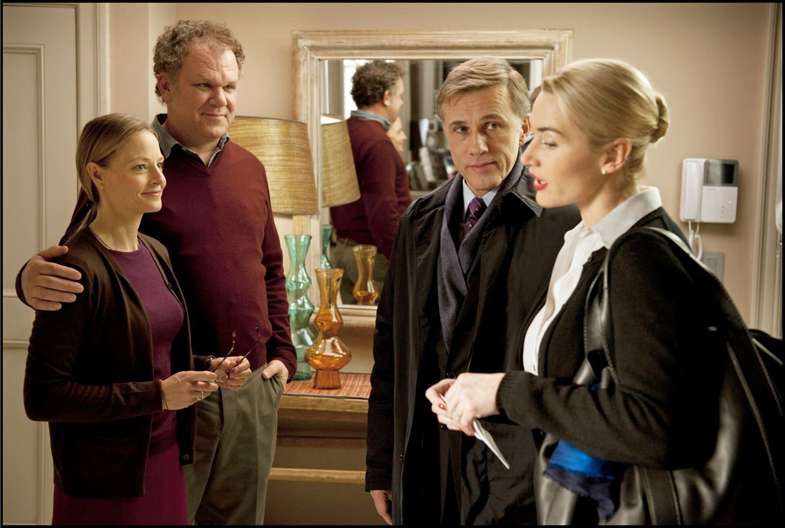 Jodie Foster, John C. Reilly, Christoph Waltz and Kate Winslet in Carnage