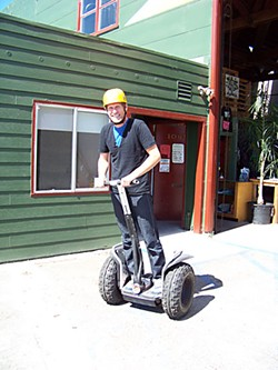 Jon O'Connor demonstrating the Segway. Photo by Heidi Walters