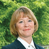 Station Identification KHSU General Manager Elizabeth Hans McCrone. Photo courtesy of Humboldt State University.