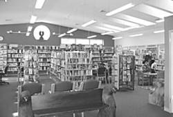 Kim Yerton Memorial Library, in Hoopa. Photo by Kristen Freeman.