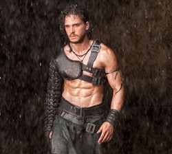 Kit Harrington is too sexy for his armor.Vesuvius Blows