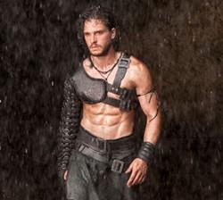 Kit Harrington is too sexy for his armor.Vesuvius Blows