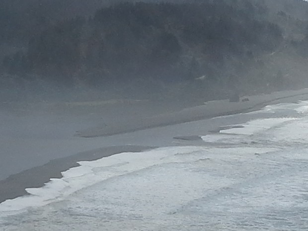 Klamath River mouth today, Sept. 30. - PHOTO BY SARA BOROK