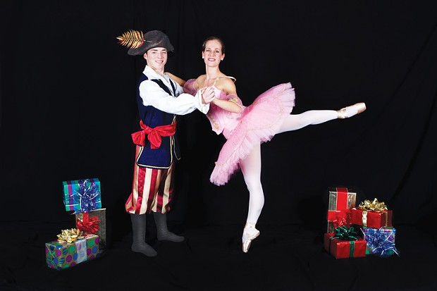 Kyle Ryan as Pirate King and Julie Hayes-Ryman as Ballerina Doll in Trillium Studio's 'Twas the Night Before Christmas. - PHOTO BY SACRED IMAGES PHOTOGRAPHY